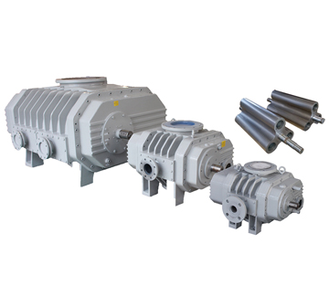 ZJQ-type tri-lobe gas-cooled Roots vacuum pump