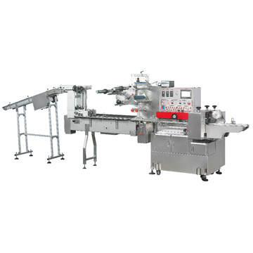 FFA-DL type full automatic blister flow packing machine with auto feeding system