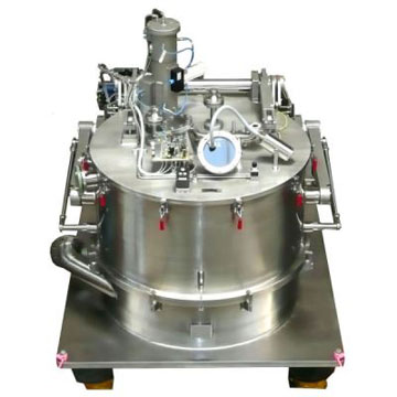 Vertical peeler centrifuges