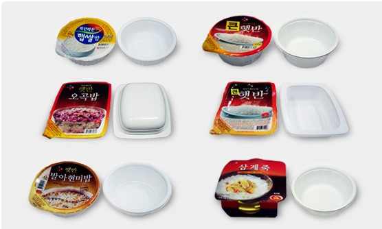 Aseptic rice tray / Lid