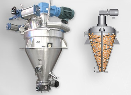 Vertical mixing equipment
