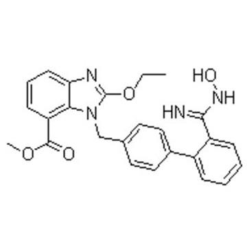 2-ethoxy-1-((2'-((hydroxyamino)iminomethyl)(1,1'-biphenyl)-4-yl)methyl)-1h-benzimidazole-7-carboxyli