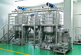 Vacuum liquid detergent equipment