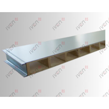 Mechanism hollow glass magnesium color steel laminboards