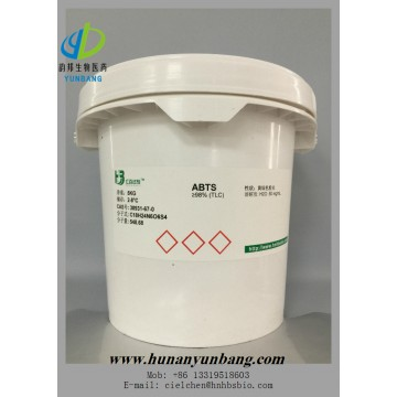 ABTS Diammonium 2,2'-azino-bis(3-ethylbenzothiazoline-6-sulfonate) with cas no. 30931-67-0 most comp
