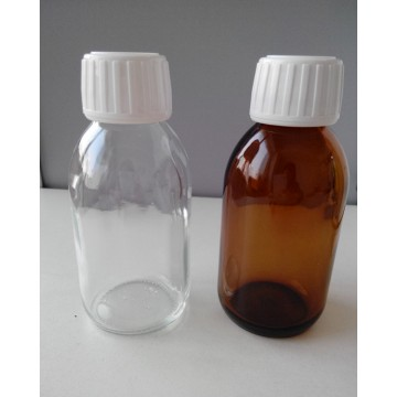 Brown Glass Bottle with Cap 30-500ml DIN Pp 28mm Screw Caps