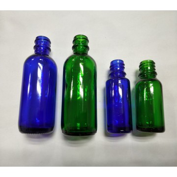 20ML High quality Blue boston glass bottle with child proof dropper