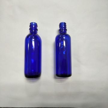 Blue DIN Pp18mm Glass Bottle for oil