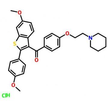 6-METHOXY-2-(4-METHOXY PHENYL)-BENZO[B]THIEN-3-YL][4-[2-(1-[PIPERIDINYL)ETHOXY]PHENYL]METHANONE HYDR