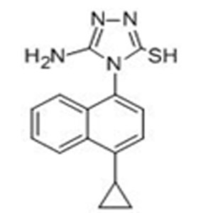5-Amino-4-(4-cyclopropylnaphthalen-1-yl)-4H-1,2,4-triazole-3-thiol