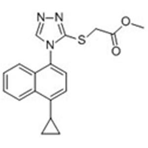 Methyl 2-(4-(4-cyclopropylnaphthalen-1-yl)-4H-1,2,4-triazol-3-ylthio)acetate