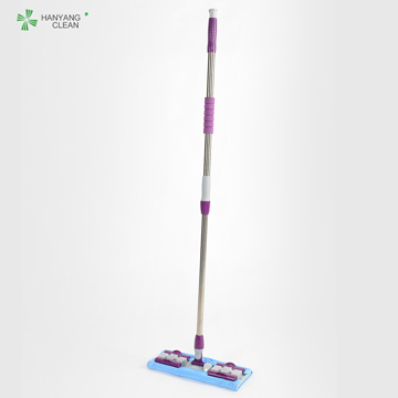 Lint Free  Reusable Cleanroom  Flat Cleaning Mop With Replaceable Microfiber Cloth