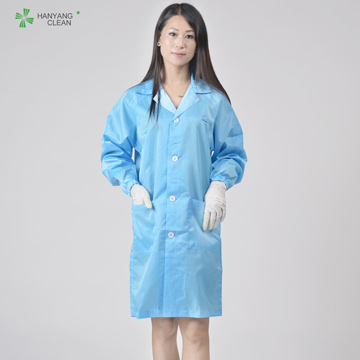Lapel Cleanroom Antistatic Esd  Autoclavable Smock