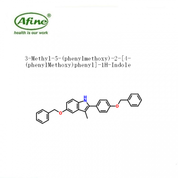 3-Methyl-5-(phenylmethoxy)-2-[4-(phenylMethoxy)phenyl]-1H-Indole CAS 198479-63-9