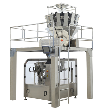 Automatic bag packing machine.