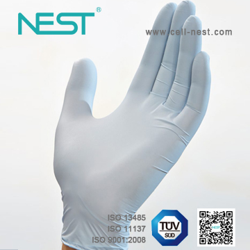Nitrile gloves with oats extractions