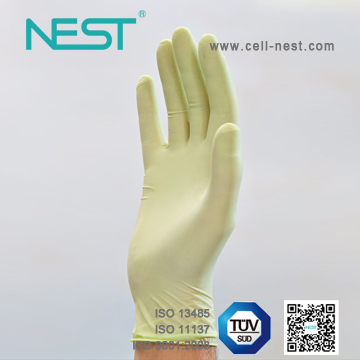Latex gloves with oats extractions