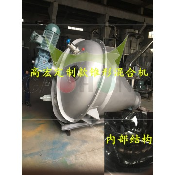 Double-spiral conical mixer