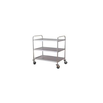 Stainless steel flat trolley