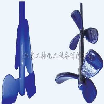 High efficiency glass enameling agitator