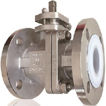 Lithium hexafluorophosphate liner ball valve
