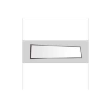 LED stainless steel flat-panel lamp with straight edge