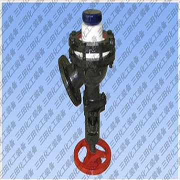 Enameling valve with glass expansion