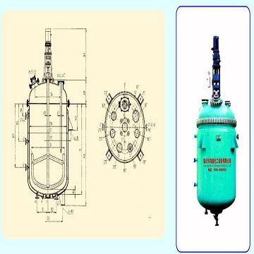 Glass lined open vessel with agitator/K1000-K5000/Brand:HAIXIN