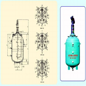 Glass lined close vessel with agitator/F3000-F20000/Brand:HAIXIN