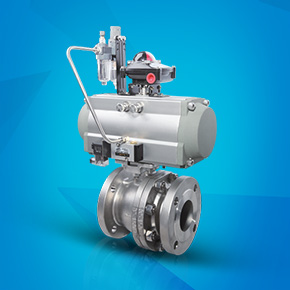 Pneumatic high platform hard seal flange ball valve