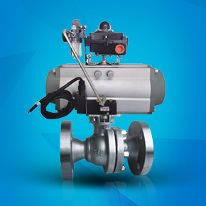 Pneumatic high platform flange ball valve