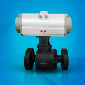 Pneumatic hard seal flange ball valve