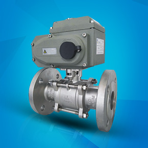 Electric three-piece high platform flange ball valve