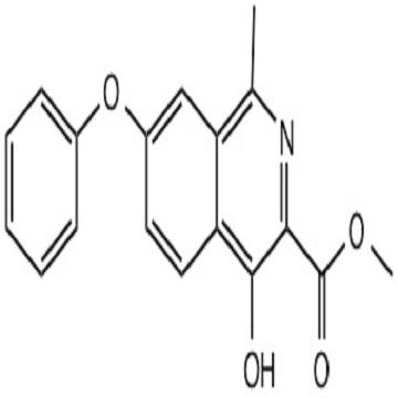 1-Methyl-4-hydroxy-7-phenoxy isoquinoline-3-methyl formate