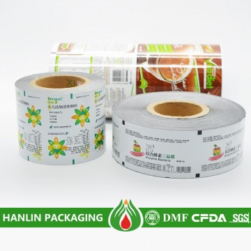 Printed treatment packaging laminated aluminum film roll