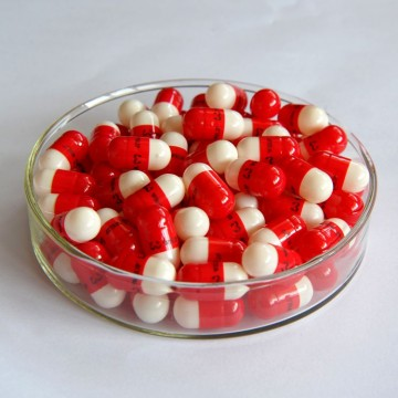 00#B red/white empty capsule