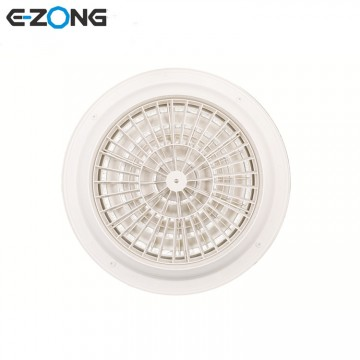 HVAC Ventilation Round Ceiling air Disc Grill Diffuser with Butterfly Damper