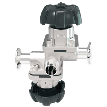 manual four-way diaphragm valve