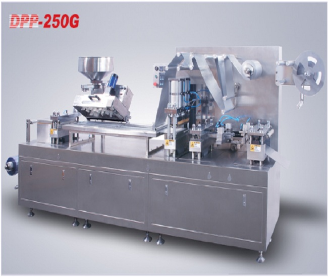DPP-250G flat aluminum plastic (aluminum/aluminum) bubble cover packaging machine
