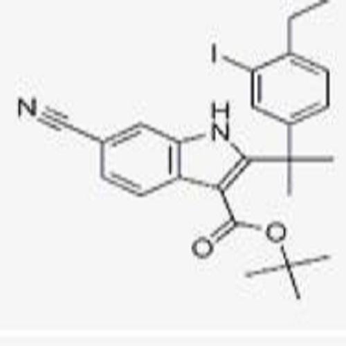 tert-butyl 6-cyano-2-(2-(4-ethyl-3-iodophenyl)propan-2-yl)-1H-indole-3-carboxylate