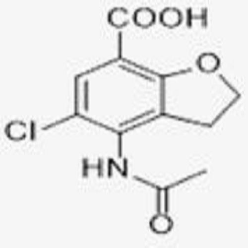 4 - acetyl amino - 5 - chloro - 2, 3 dihydro coumarone - 7 - carboxylic acid