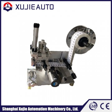 Round bottle semi automatic labeling machine