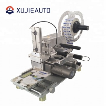 Tabletop Semi Automatic Flat Bottle Sticker Label Machine