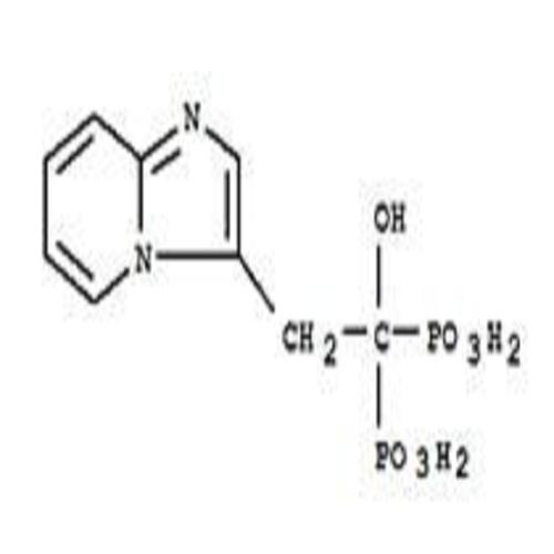 PHOSPHONIC ACID, (1-HYDROXY-2-IMIDAZO(1,2-A)PYRIDIN-3-YLETHYLIDENE)BIS-
