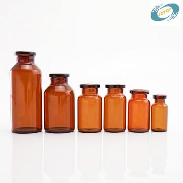 Deep Amber Tubular Injection Penicilline Glass Vials