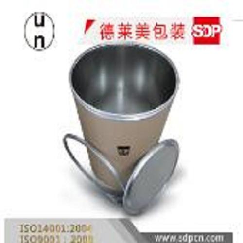 Fiber drum with aluminum inside liner,water p...
