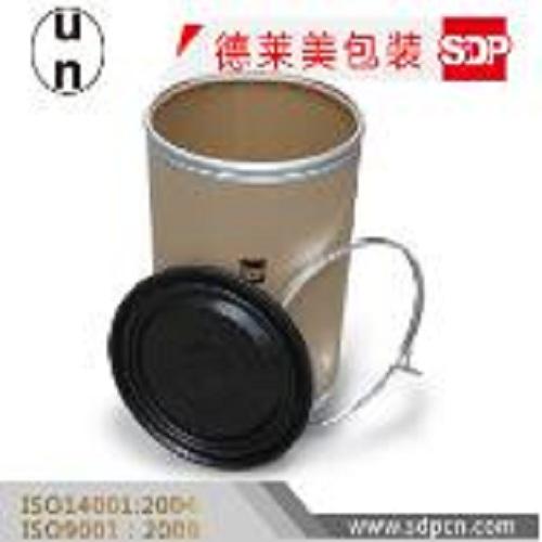 Fiber drums with plastic lid