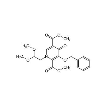 Dimethyl 3-(benzyloxy)-1-(2,2-dimethoxyethyl)-  4-oxo-1,4-dihydropyridine-2,5-dicarboxylate