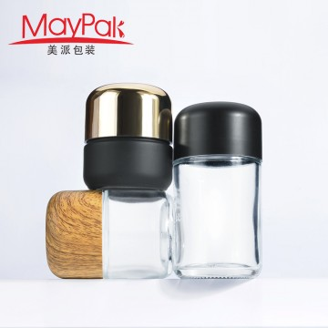 Hot sales Child Resistant Cap 50ml 70ml 90ml 110ml Empty Glass Weed Bottle