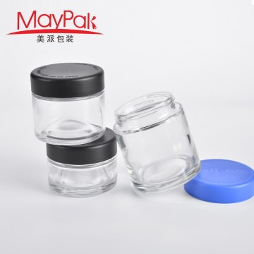 Custom 30ml 60ml 90ml 120ml Childproof Empty Glass Weed Packaging -Maypak